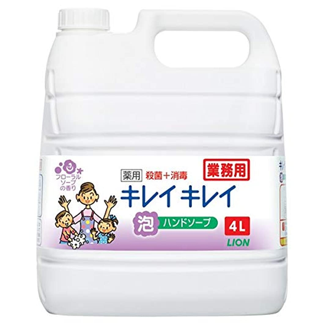フィルタに頼る必要とするライオンハイジーン キレイキレイ薬用泡ハンドフローラルS詰替4L×3本