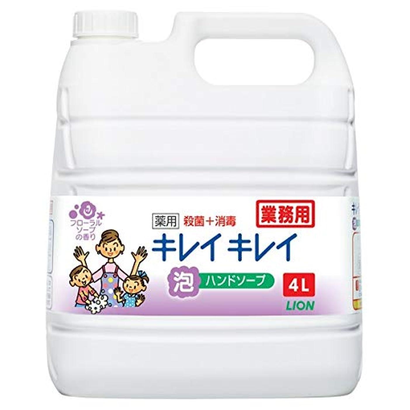 補助勘違いする放散するライオンハイジーン キレイキレイ薬用泡ハンドフローラルS詰替4L×3本