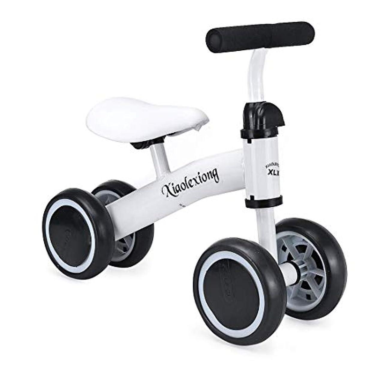 受け取る句チキン1-2歳、赤ちゃんバランスバイク、子供や幼児まずバイク誕生日ギフト(ホワイト)のためのバランスバイクのベビーウォーカープッシュバイク赤ちゃんに乗ってバイク