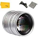 7artisans 55mm F1.4 Sony Camera Lens Large Aperture Portrait Manual Fixed Lens for Sony E-Mount Mirrorless Camera - Silver