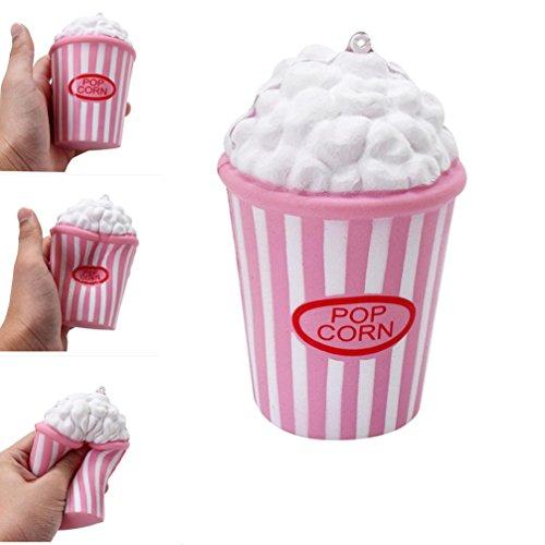 白+ピンク ポップコーン スクイーズ 低反発 おもちゃ スト...