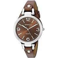 Nemesis Women's NS216B Brown Classy Series Leather Band Analog Display Japanese Quartz Brown Watch