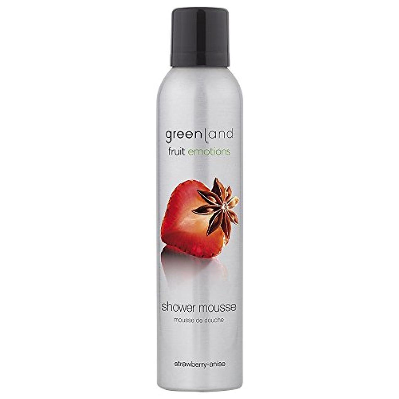ヤギ別の消毒剤greenland [FruitEmotions] シャワームース 200ml ストロベリー&アニス FE0077