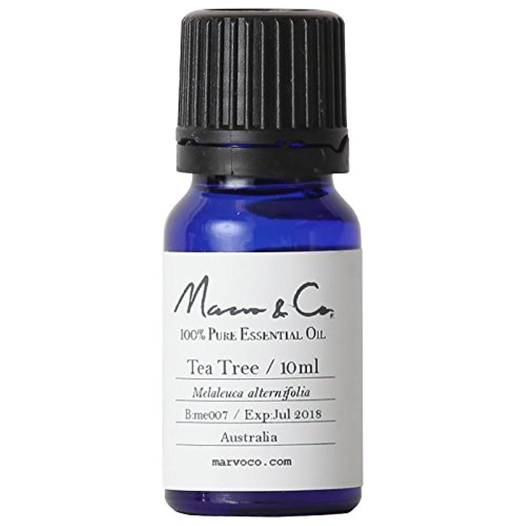 強制的一見虫を数えるMarvo&Co(マーヴォ&コー) ピュアエッセンシャルオイル ティーツリー (10mL)