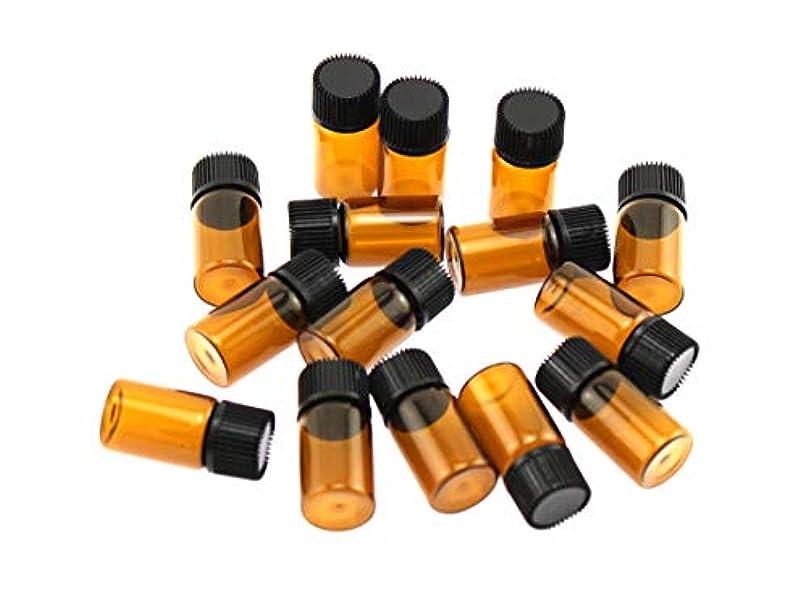 靄シャッターふくろうOlive-G アロマオイル エッセンシャルオイル 保存 小分け用 ガラスボトル 遮光タイプ 15本セット ブラウン