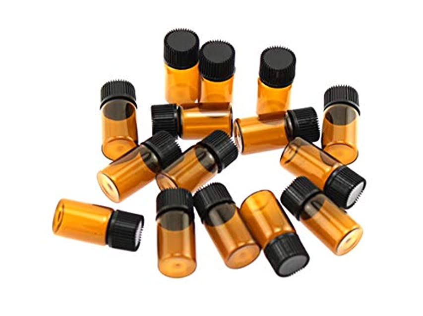 ストレスの多い発音する支払うOlive-G アロマオイル エッセンシャルオイル 保存 小分け用 ガラスボトル 遮光タイプ 15本セット ブラウン