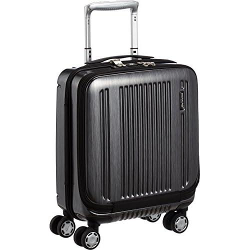 [バーマス] スーツケース プレステージ2 フロントオープン ハイブリッド 21L コインローカー収納対応 機内持込可  21L 45cm 2.8kg 60255-10 BK ブラック