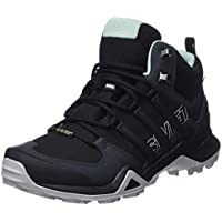 adidas, Terrex Swift R2 Mid GTX Hikings Boots, Women's Shoes, Black/Black/Ash Green, 5.5 US