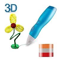 Zenic 3Dペン 3Dプリントペン 3dドリームアーツペン 低温 立体絵画 子供学生 成人 知育 おもちゃ DIY 3mPCLフィラメント付属 安全機能搭載 超軽量 (ブルー)