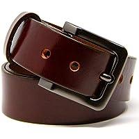 Logical Leather Men's Belt - Heavy Duty Genuine Full Grain Leather Belts