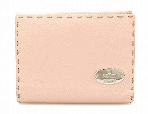 [フェンディ] FENDI セレリア 2つ折 財布 ダブルホック レザー ピンク