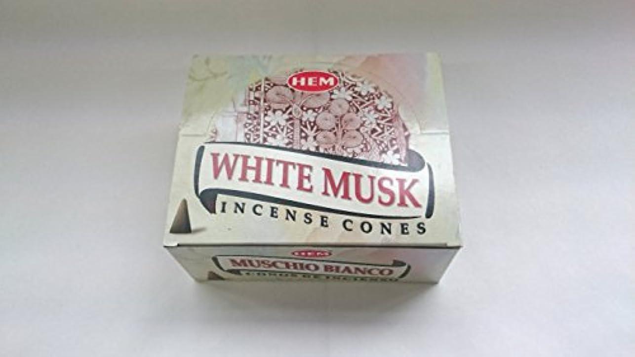 取得する腰スペシャリストHEM(ヘム)お香 ホワイトムスク コーンタイプ 1ケース(10粒入り1箱×12箱)