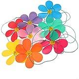 P Prettyia 風車 吊り装飾 8個セット 虹 紙吹雪飾り 屋外芝生装飾 インテリア 壁掛け パーティー 飾り