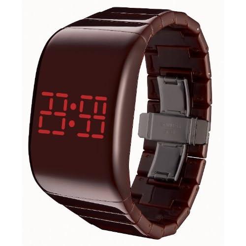 [オーディーエム]o.d.m 腕時計 illumi+(イルミプラス) デジタル表示 LEDディスプレイ フリースイッチ・タッチスライド機能搭載 ブラウン DD133-3 レディース 【正規輸入品】