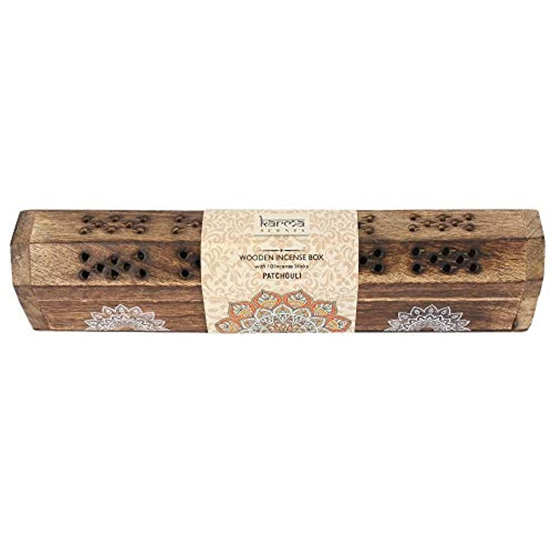 論争更新失望Karma Patchouli Incense Wooden Set