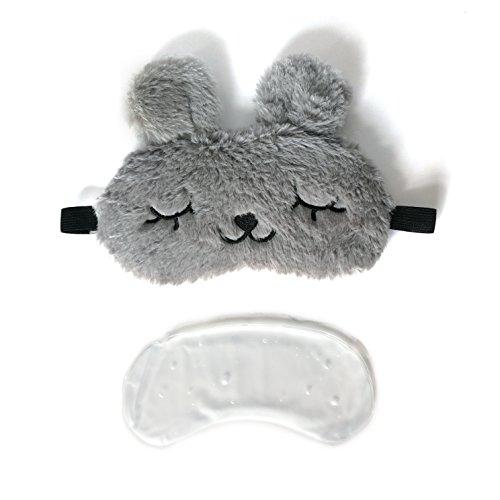 [해외]3D 귀여운 잠 토끼 재사용 젤 패드 아이 마스크. /3D cute sleeping rabbit reusable gel pad eye mask.