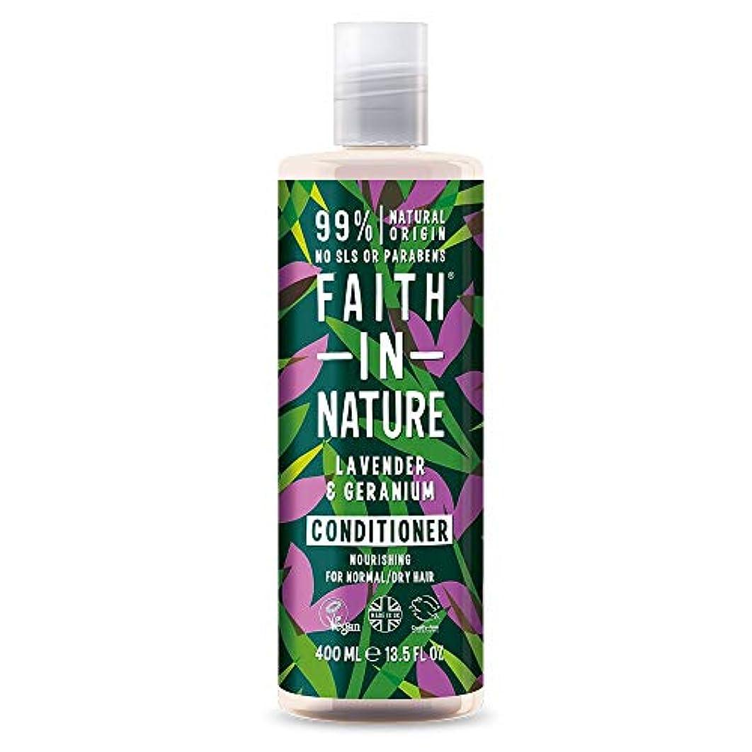 について食い違い取り戻すFaith In Nature Lavender & Geranium Conditioner Normal To Dry Hair 400ml