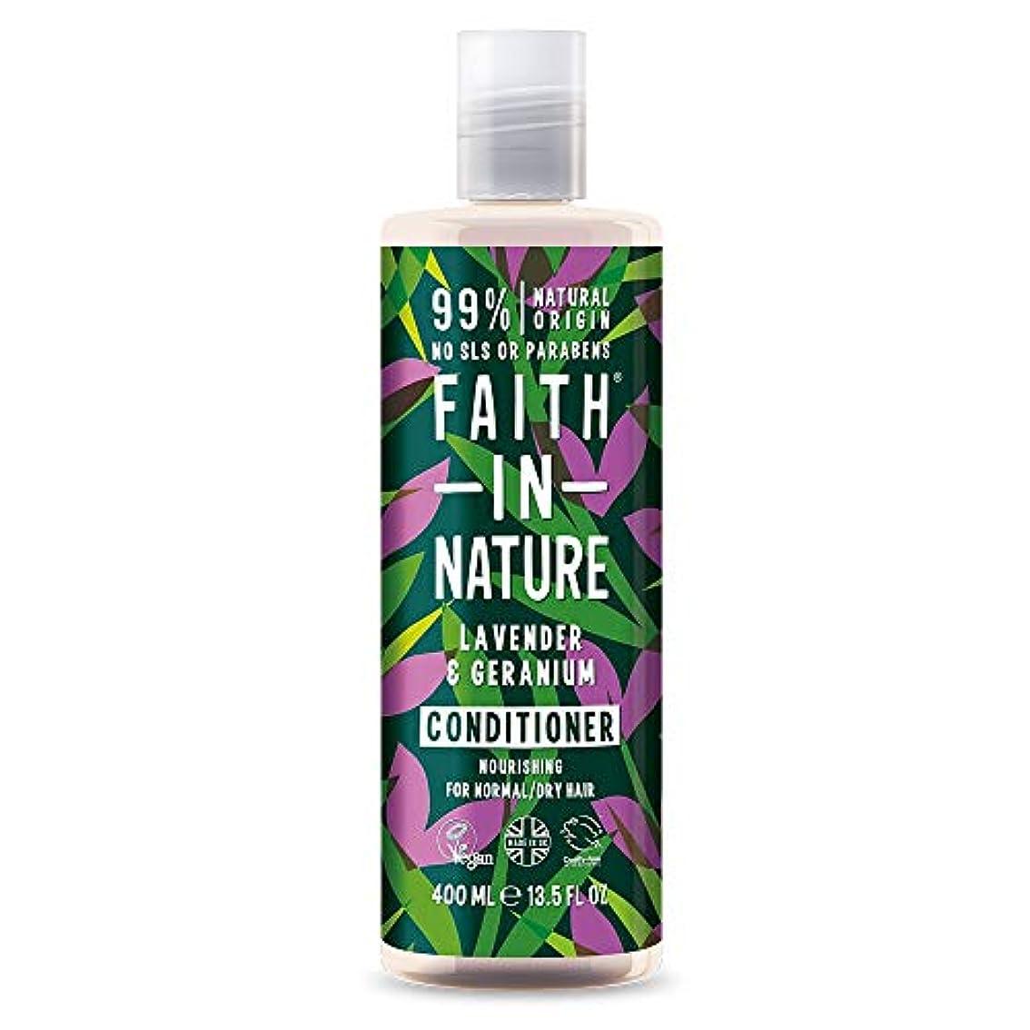 瞑想的スキャンダラス乱すFaith In Nature Lavender & Geranium Conditioner Normal To Dry Hair 400ml