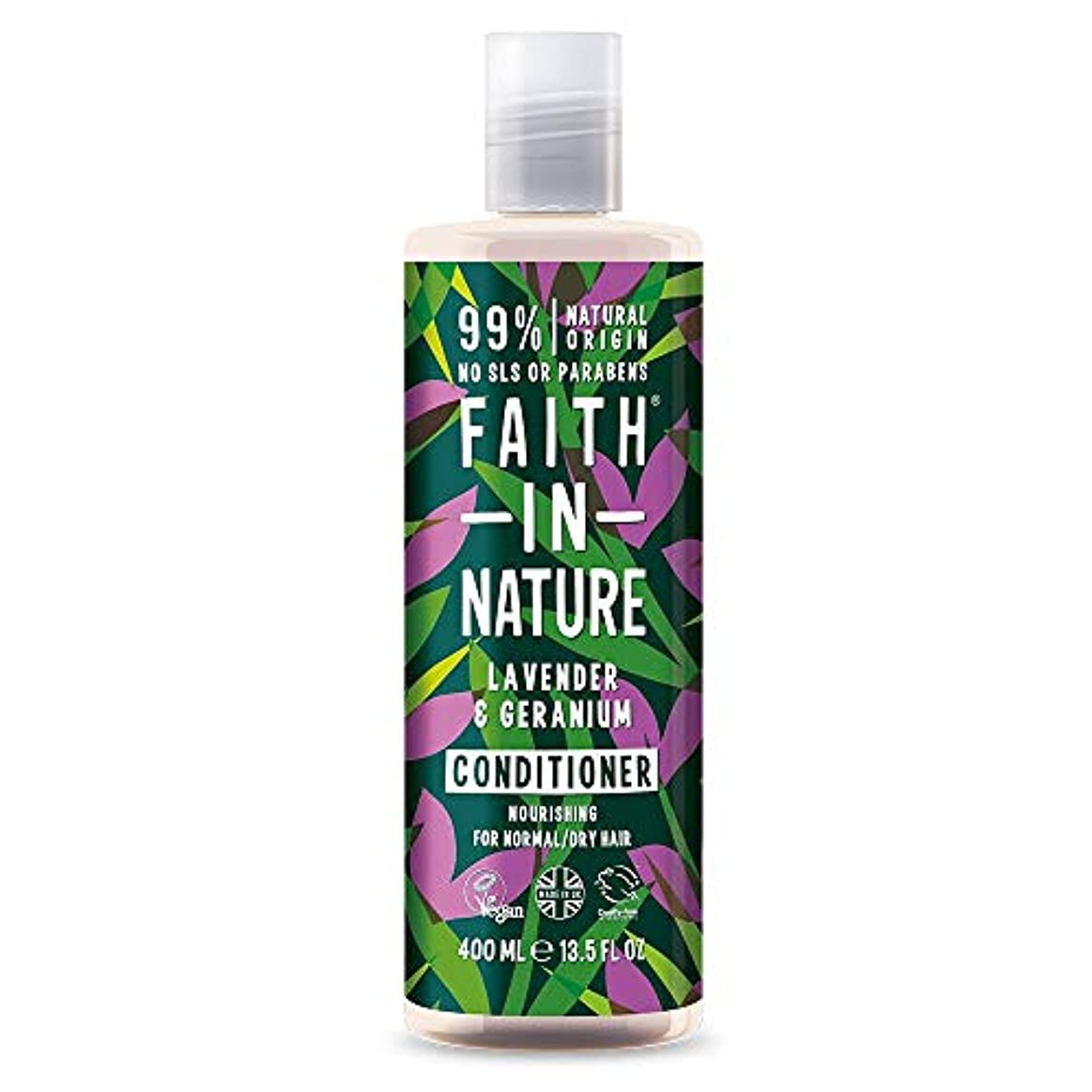 嫌いシフト運賃Faith In Nature Lavender & Geranium Conditioner Normal To Dry Hair 400ml