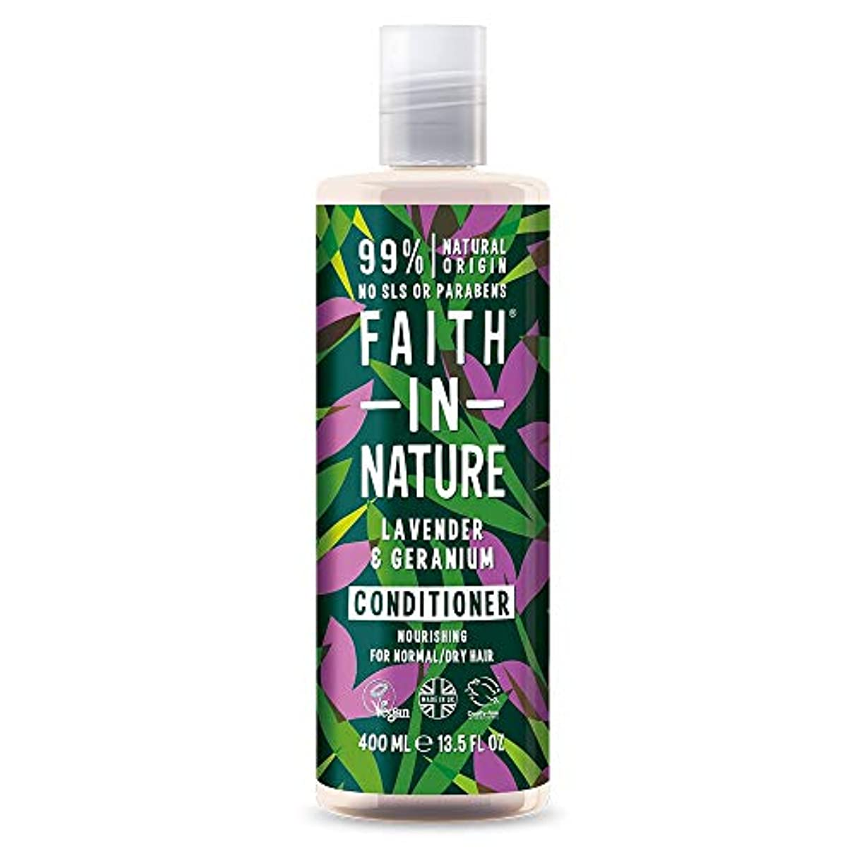 農村隠す主流Faith In Nature Lavender & Geranium Conditioner Normal To Dry Hair 400ml