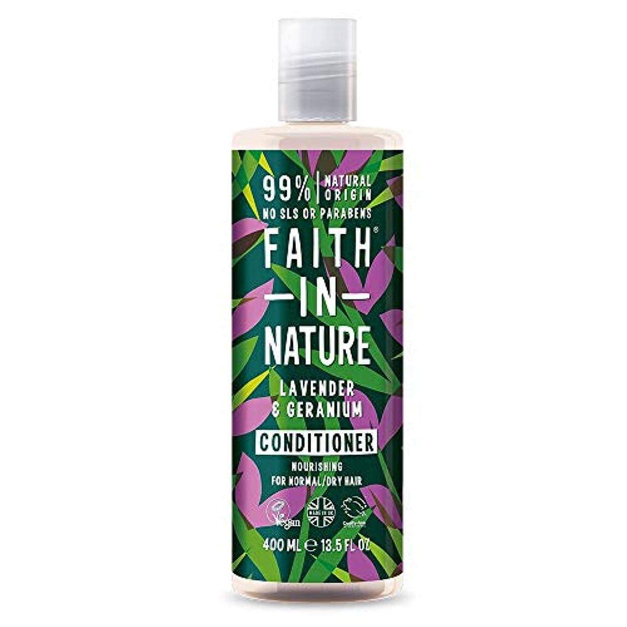 毒液タオルパワーセルFaith In Nature Lavender & Geranium Conditioner Normal To Dry Hair 400ml