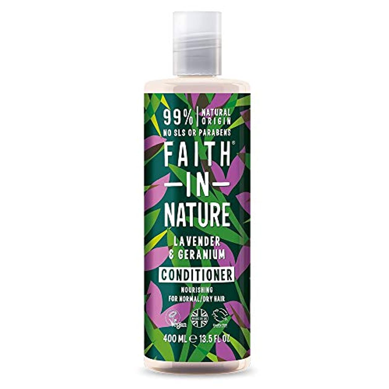 モーションカプセル業界Faith In Nature Lavender & Geranium Conditioner Normal To Dry Hair 400ml