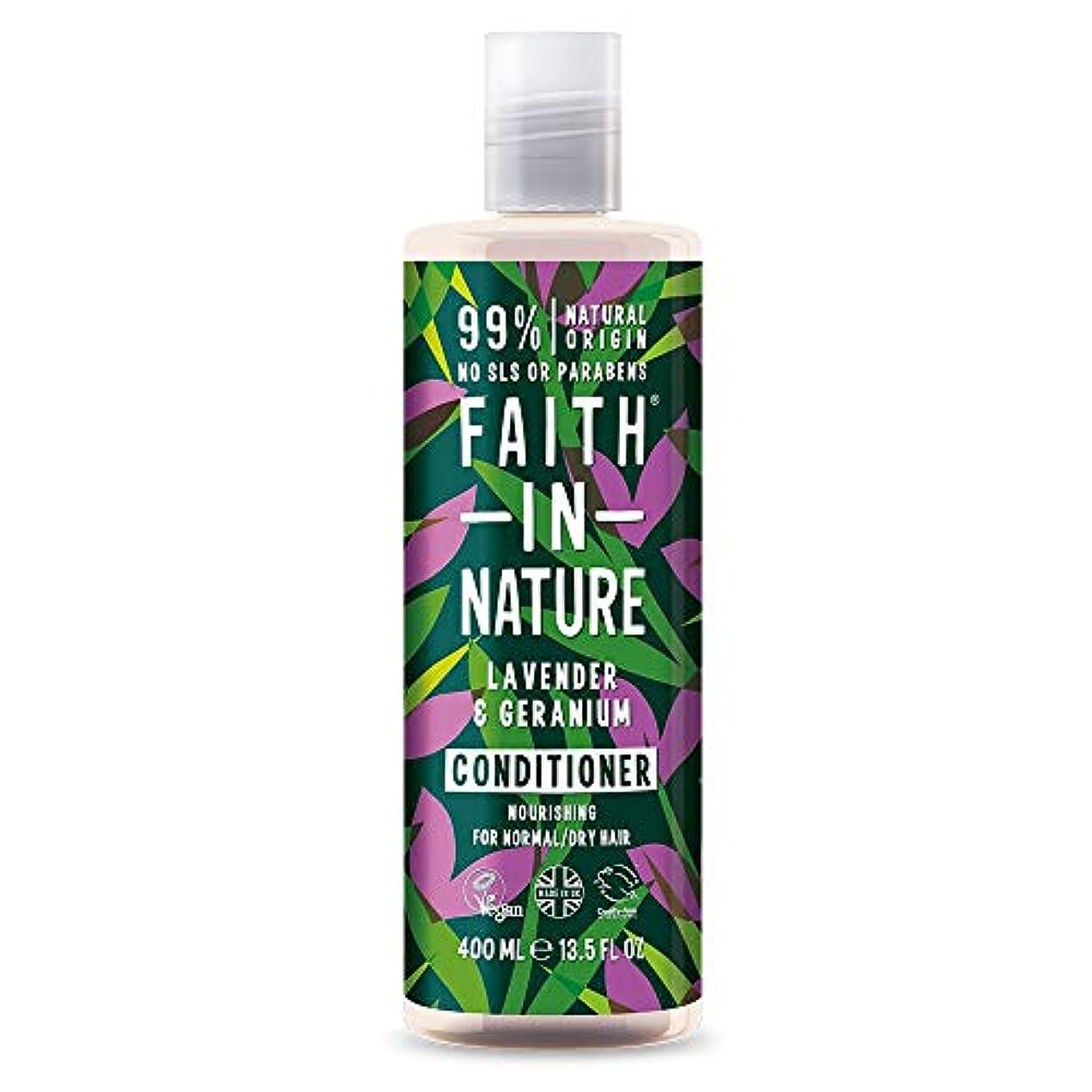 クリップ蝶とても多くの終わらせるFaith In Nature Lavender & Geranium Conditioner Normal To Dry Hair 400ml