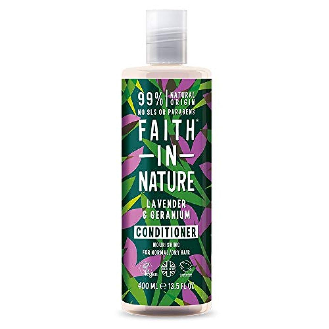 遊びますキャンセルとげFaith In Nature Lavender & Geranium Conditioner Normal To Dry Hair 400ml