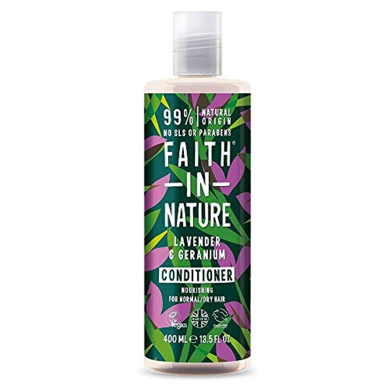 シロクマ奇跡的な受け皿Faith In Nature Lavender & Geranium Conditioner Normal To Dry Hair 400ml