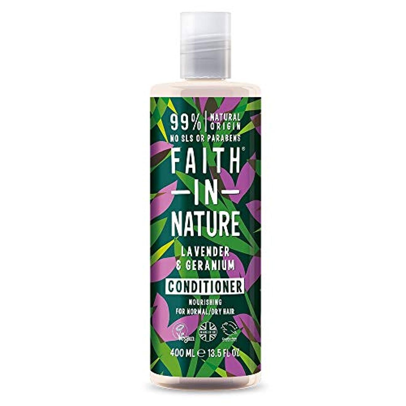 ポイント練るピルFaith In Nature Lavender & Geranium Conditioner Normal To Dry Hair 400ml