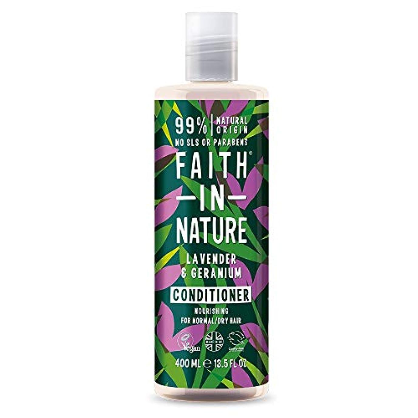 北間に合わせ器用Faith In Nature Lavender & Geranium Conditioner Normal To Dry Hair 400ml