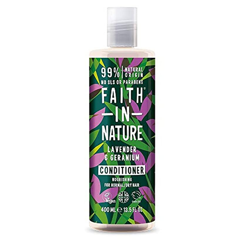 アトミック写真撮影叙情的なFaith In Nature Lavender & Geranium Conditioner Normal To Dry Hair 400ml