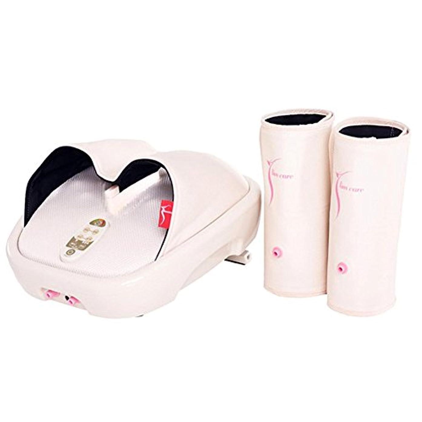 絵第四羊飼いHanil 532 Y-Liner HIL-9000F Air Compression Heating Foot Massager with Calf Cuff ハニール532 YライナーHILL-9000Fエアコンプレッションヒートフットマッサージャー...