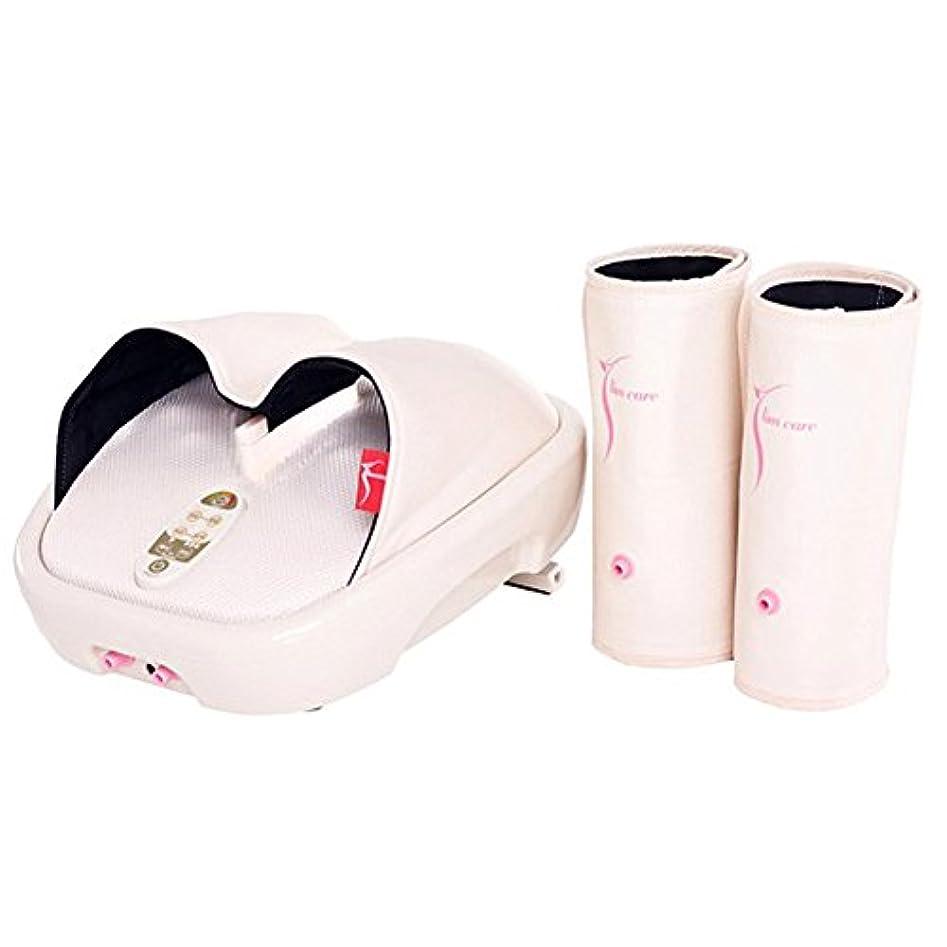 管理運河発見Hanil 532 Y-Liner HIL-9000F Air Compression Heating Foot Massager with Calf Cuff ハニール532 YライナーHILL-9000Fエアコンプレッションヒートフットマッサージャー...