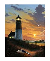 Ohio Wholesale Radiance Lighted Canvas Wall Art, Lighthouse Design, 16X12-Inch by Ohio Wholesale