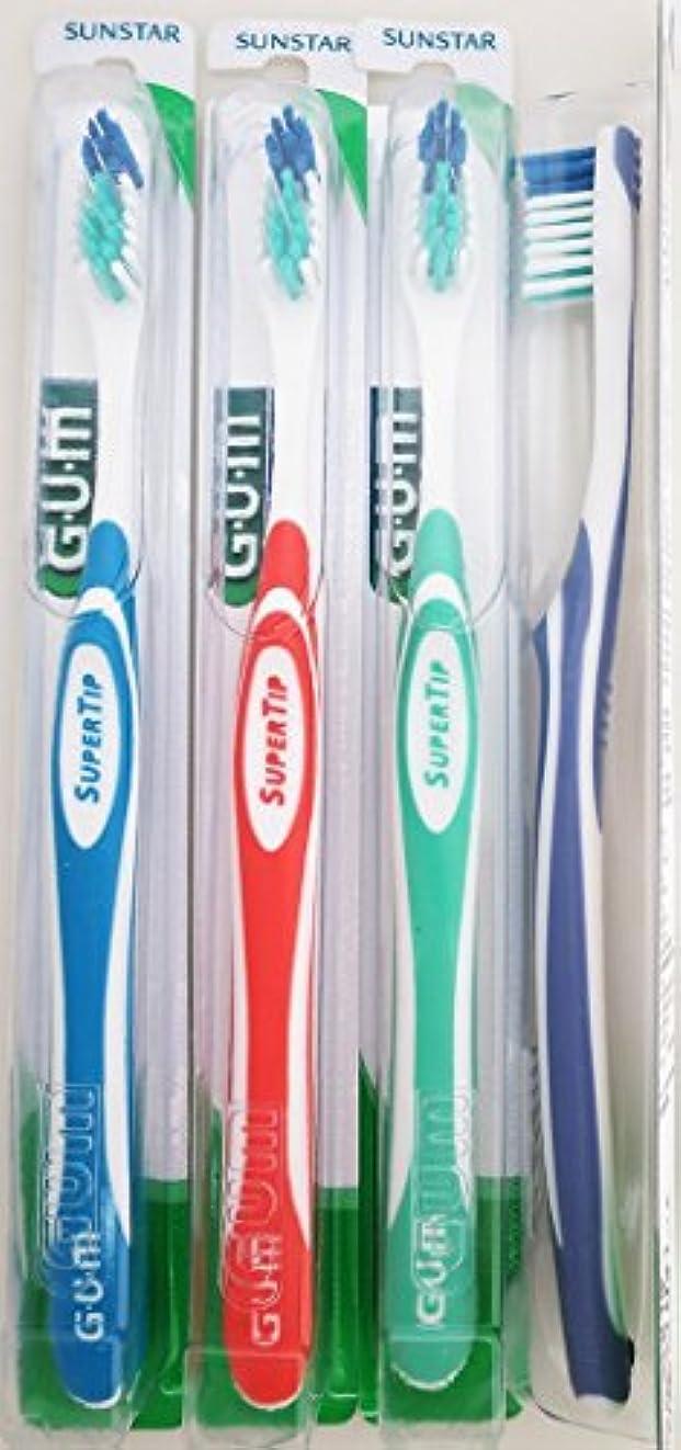 家具喉頭目覚めるGum 465 Super Tip Toothbrush - Compact - Ultra Soft (3 Pack) by GUM