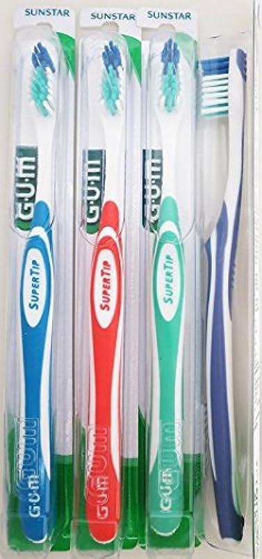 ストライド取り替える未使用Gum 465 Super Tip Toothbrush - Compact - Ultra Soft (3 Pack) by GUM
