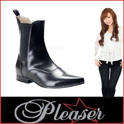 """(プリーザー) Pleaser ショートブーツ デモニア Demonia BROGUE-02 1"""" Heel b-npu メンズ(bro02-b-npu) シューズ 靴 10 BLACK [並行輸入品]"""