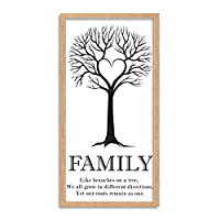 Family Tree Branches Long Panel Framed Wall Art Print 家族木壁