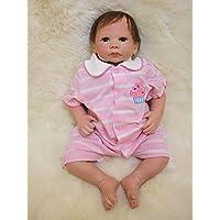 rayish Rebornベビー人形18 Lifelikeリアルな赤ちゃん人形磁気口ラブリーLifelikeキュートピンク人形青い目かわいい人形