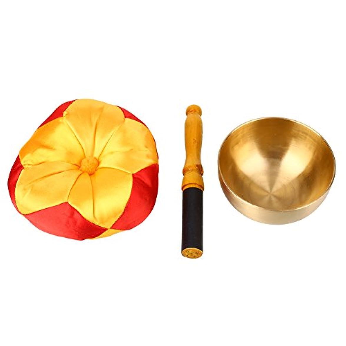 実施する君主失礼SHUNYUS クッション付き リラクゼーション 仏教 ボウル シンキング 瞑想 ベル メタル