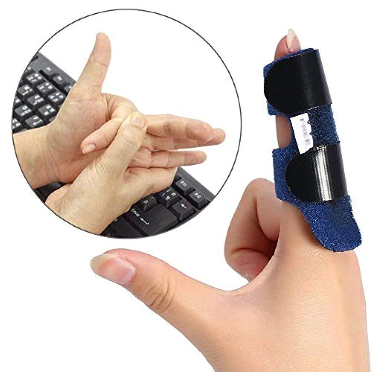 蛾気怠い緩めるすべての指トリガーの指矯正ブレースに適した指の怪我のサポート-内蔵のアルミニウム調整可能ストラップ