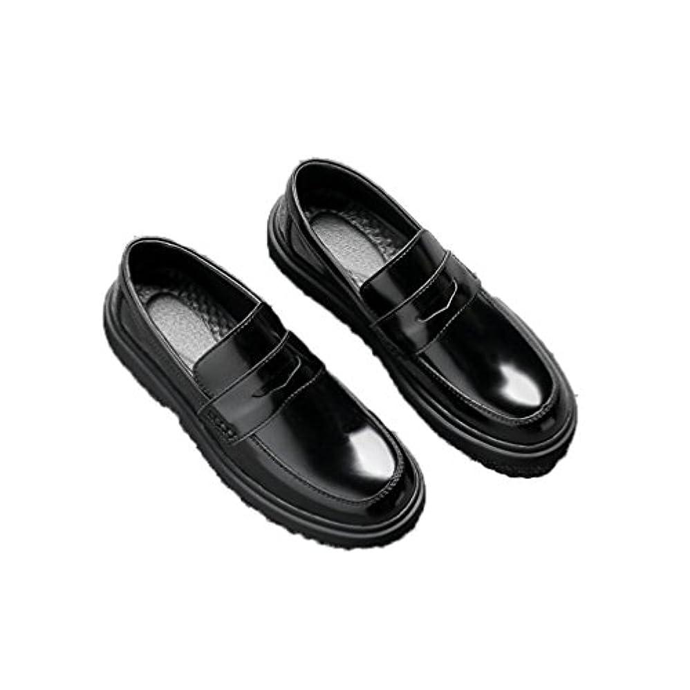 スイッチ平手打ち『JIH』ローファー メンズ PU革靴 ビジネス Uチップ 紳士靴 ロングノーズ モカシン シューズ 春 夏 大きめ 小さめ 23.5cm ビット付き 通気 厚底 快適 黒 ウォーキング カジュアル 27cm