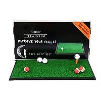 TESITEゴルフパッティングプラクティショナー/カーペット屋内用大人子供用ポータブルミニパッド(63 * 33 cm)