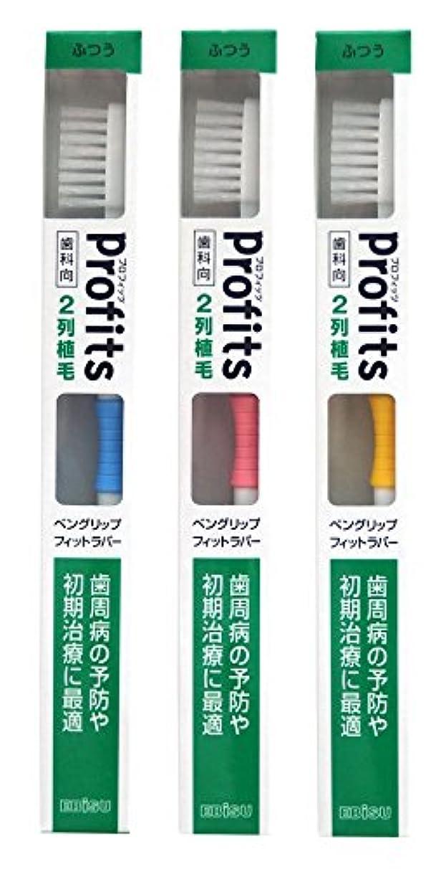 郵便物義務づける獲物エビス 歯ブラシ 歯科向 プロフィッツ K20 ふつう 3本組