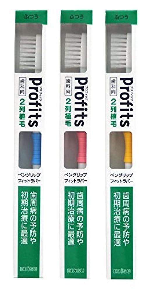 虫取り扱い抗議エビス 歯ブラシ 歯科向 プロフィッツ K20 ふつう 3本組