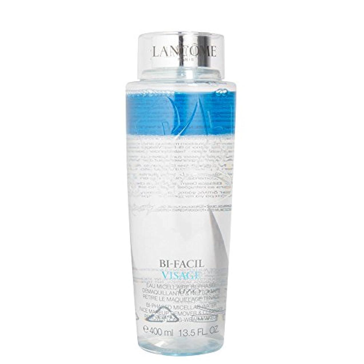 プラカード青スロープランコム Bi Facil Visage Bi-Phased Micellar Water Face Makeup Remover & Cleanser 400ml/13.5oz並行輸入品