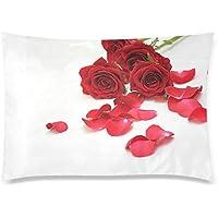 可愛い 子供 バラと花びら 座布団 50cm×72cm