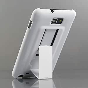 【全7色】Samsung Galaxy Note ケース GT-N7000 カバー SC-05D ハードケース プラスチックケース スタンドケース ホワイト ギャラクシー ノート対応ケースカバー Hard Case For Galaxy Note / GT-i9220 液晶保護フィルム付(7266-1)