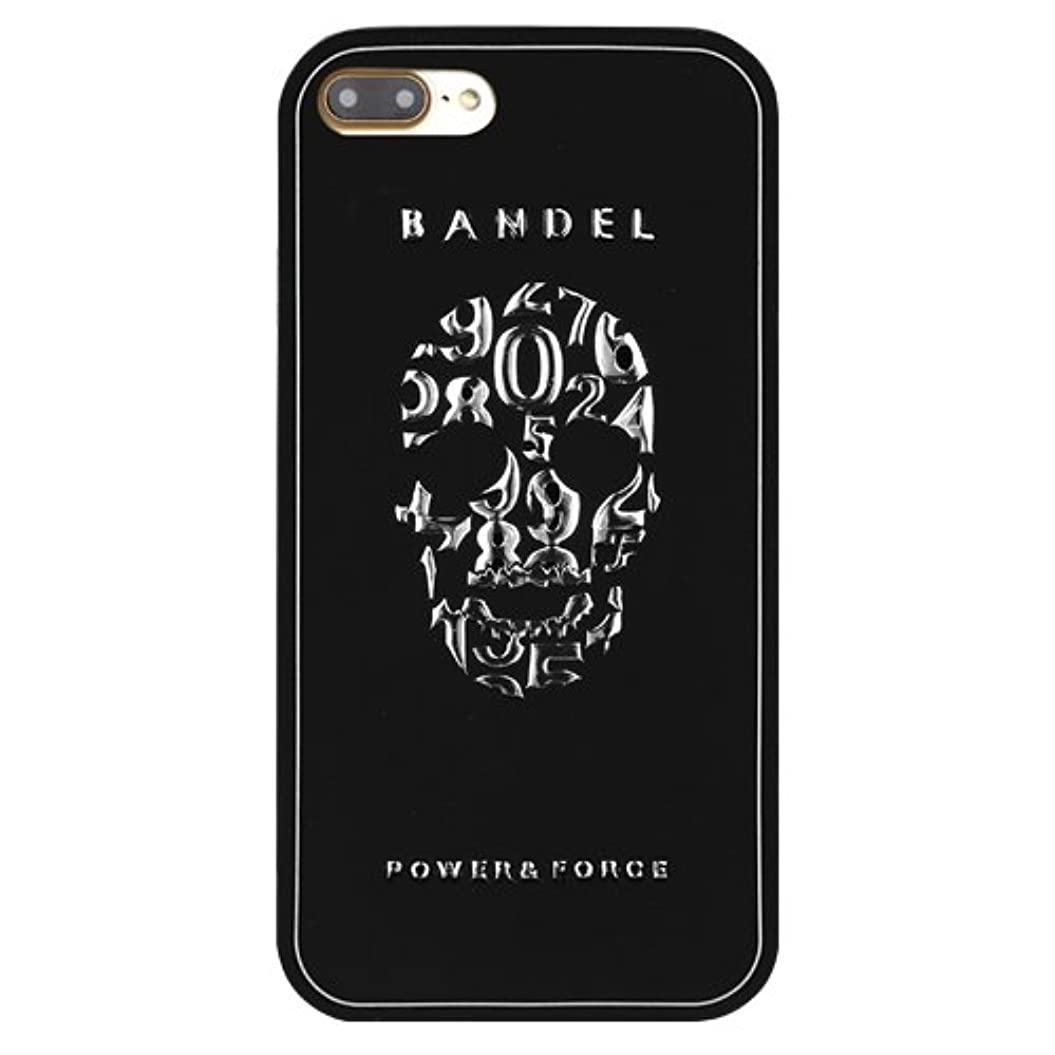バンドルかかわらず妥協バンデル(BANDEL)iPhone7Plus ケース スカル[ブラック×シルバー]/スマホケース iPhoneケース iPhone用